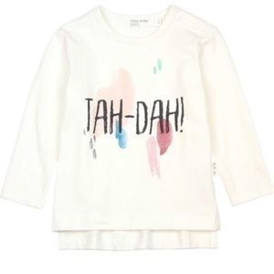 Miles Baby Girls T-Shirt with Paint Print